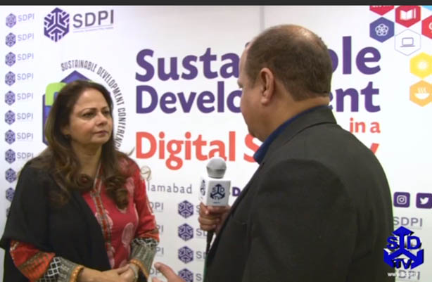 An Exclusive talk with Former Finance Minister, Punjab Ms Aisha Ghous at SDPI's SD Conference.