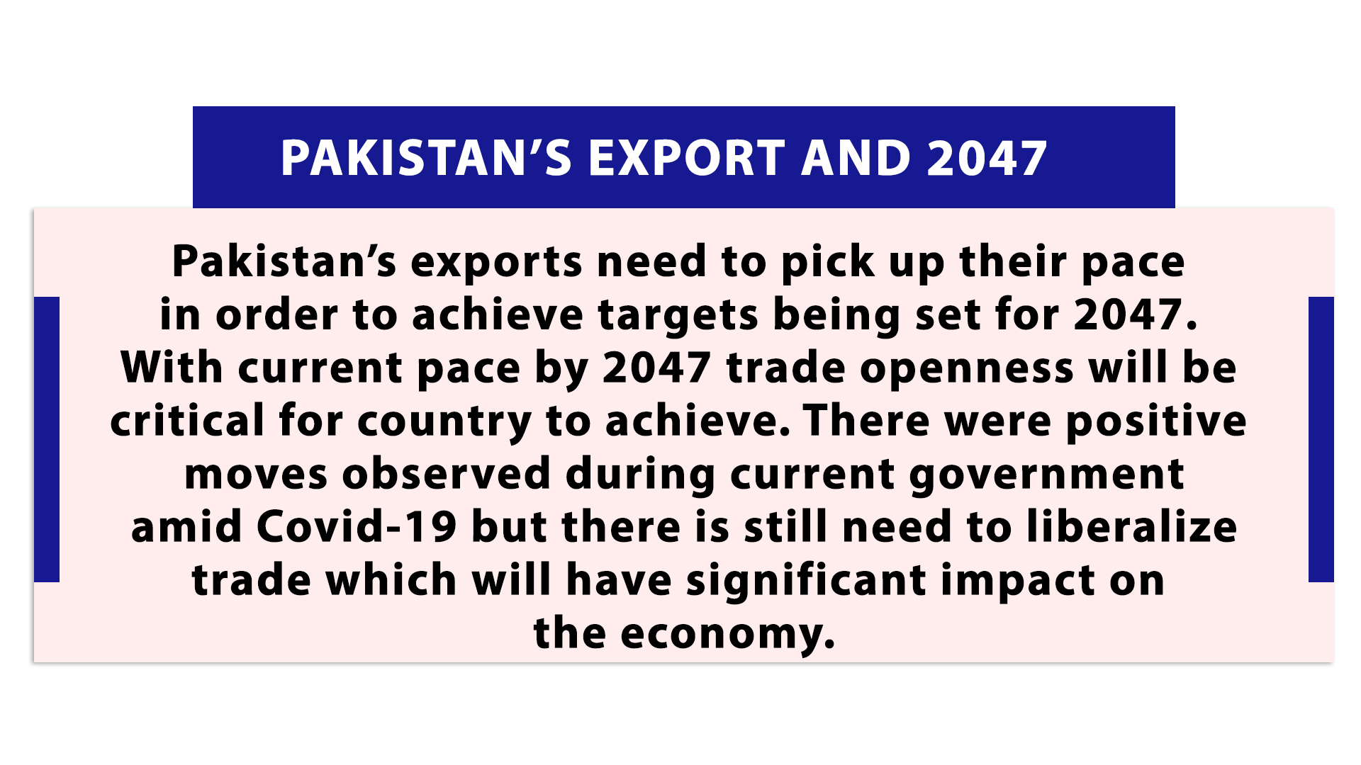 Pakistan's Export and 2047