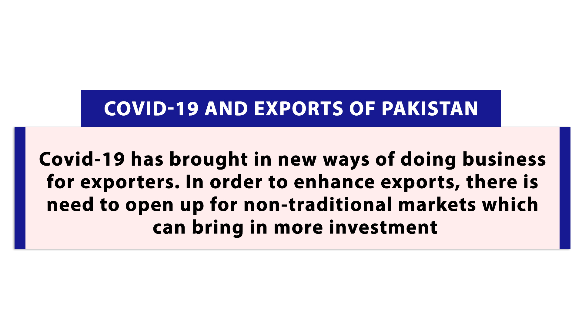 Covid-19 and Exports of Pakistan