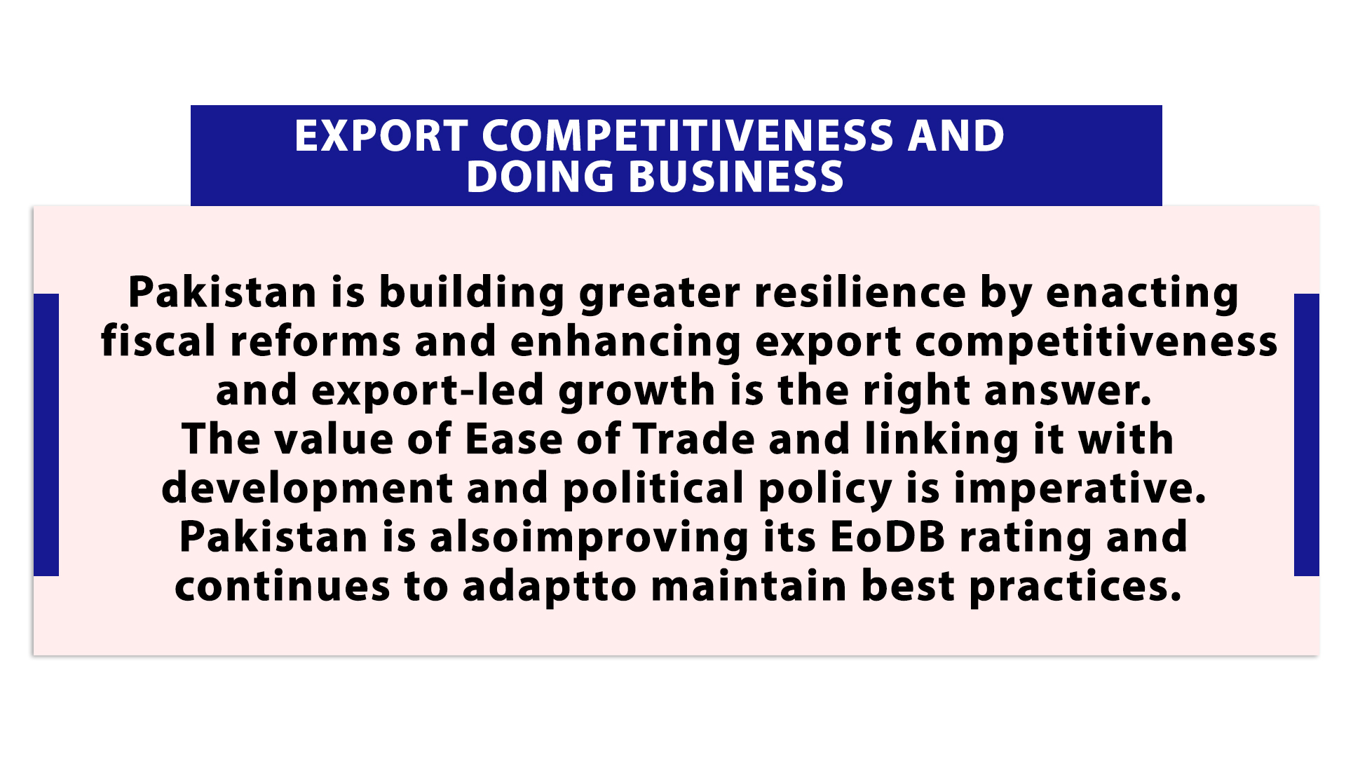 Export Competitiveness and Doing Business