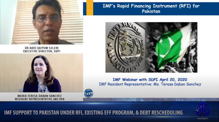 IMF support to Pakistan under RFI, Existing EFF program, & Debt Rescheduling