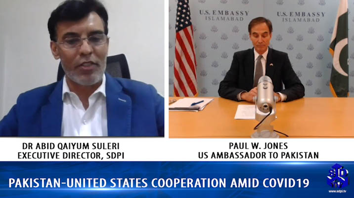 Pakistan United States Cooperation amid COVID19