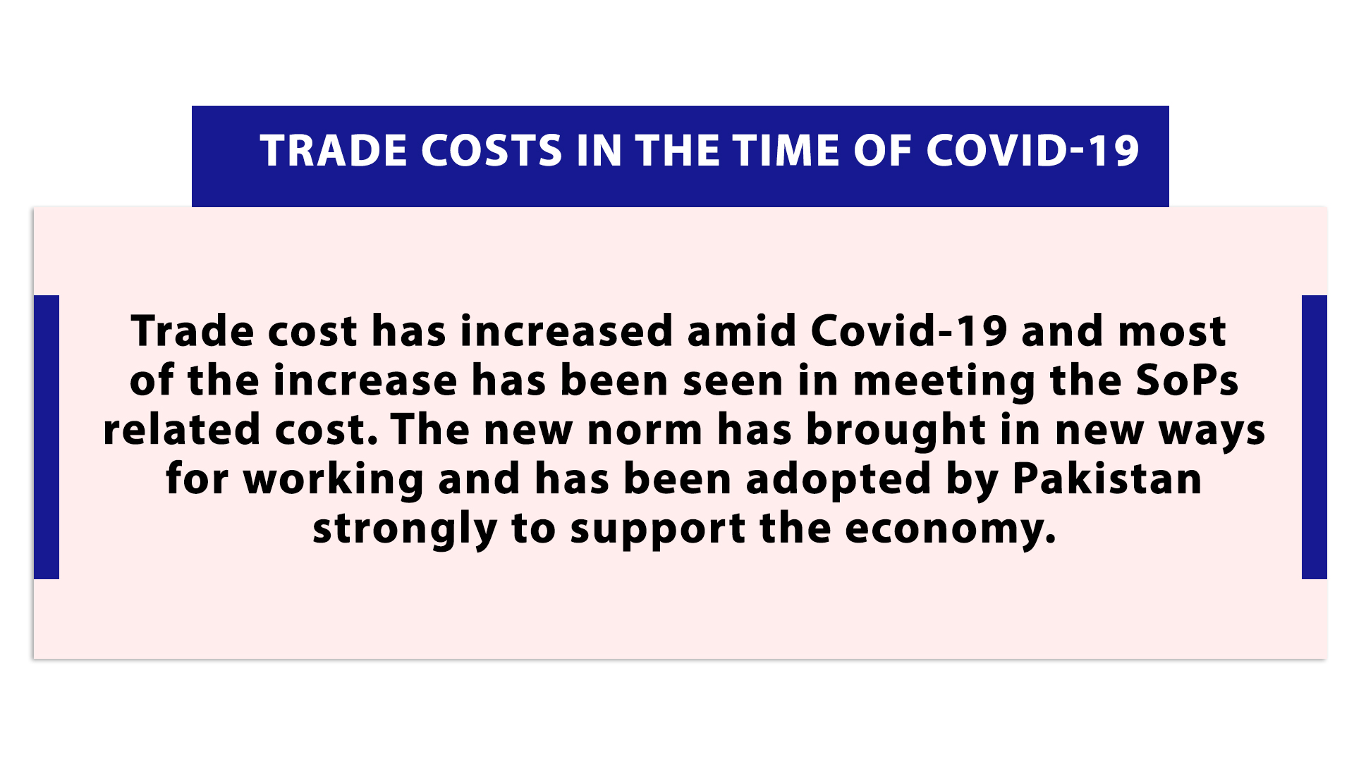 Trade Costs in the time of Covid-19