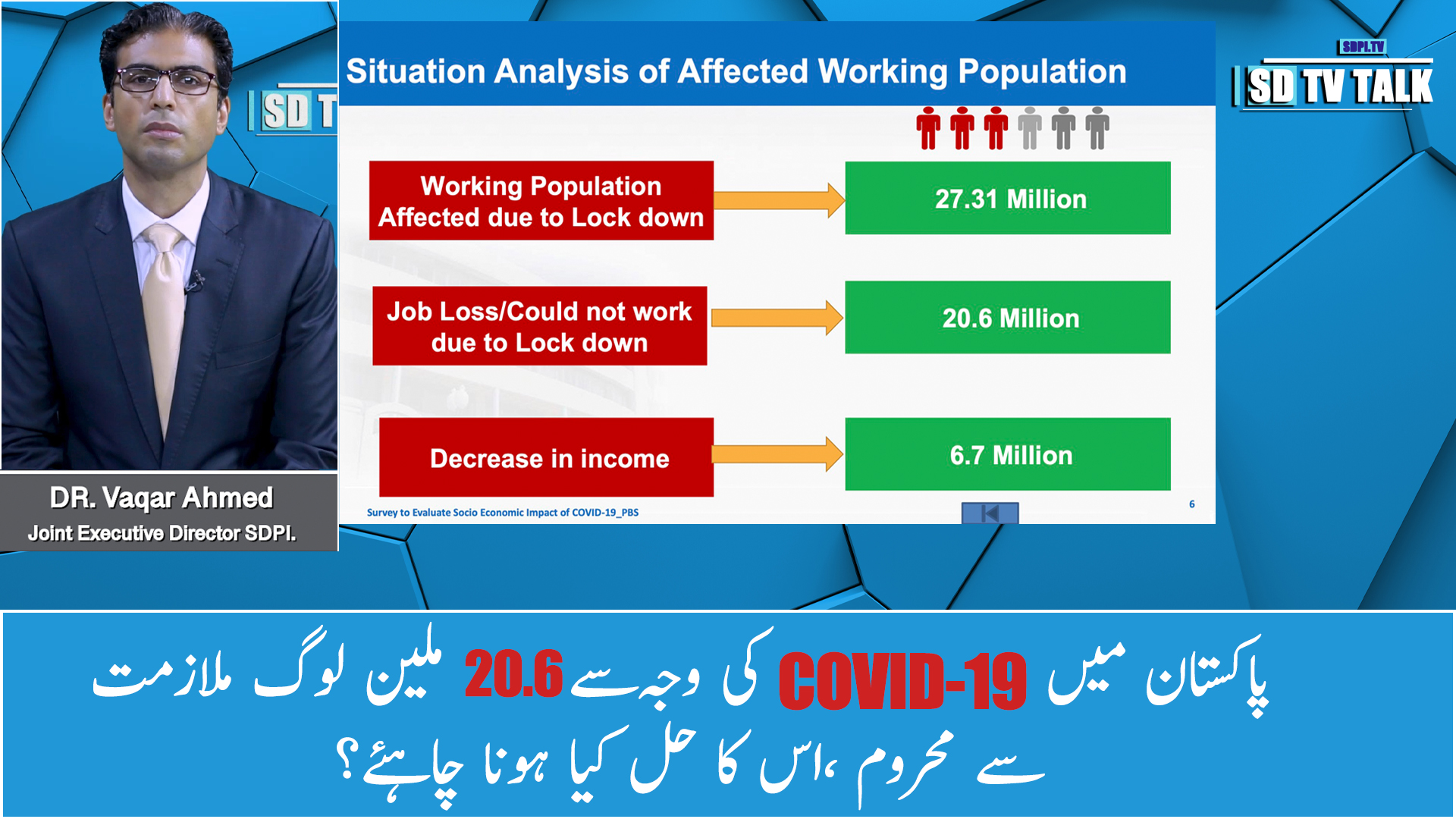 20.6 million people lost their jobs due to Covid-19, Special Survey PBS