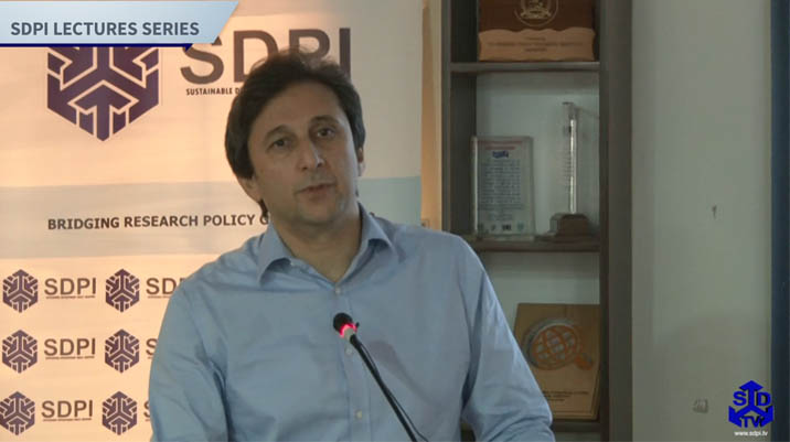 SDPI Research Fellow Dr Shehryar Toru unveils Governance Programme of the Institute